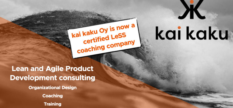 kai kaku Oy is now a certified LeSS coaching company